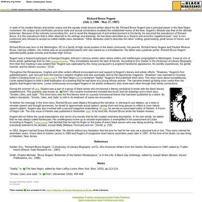 Richard Bruce Nugent - The Black Renaissance in Washington, DC