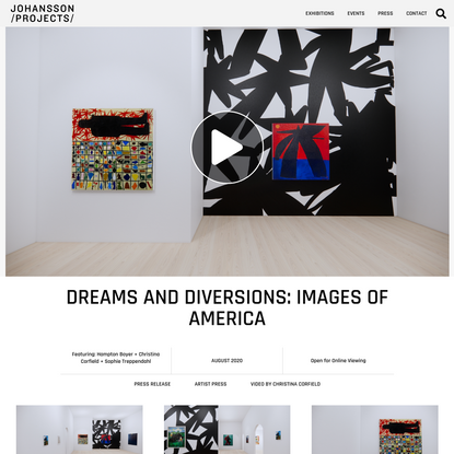 Dreams and Diversions: Images of America - Johansson Projects