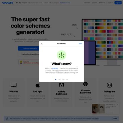 Coolors - The super fast color schemes generator!