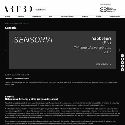 Sensoria - ARTBO Fin de Semana