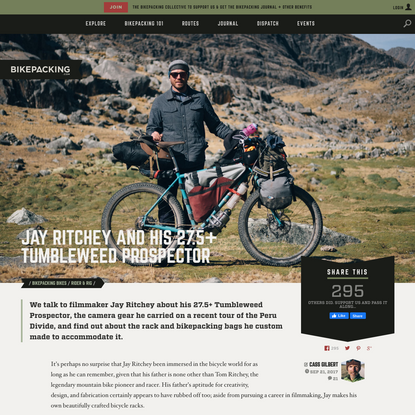 Jay Ritchey's Tumbleweed Prospector - BIKEPACKING.com