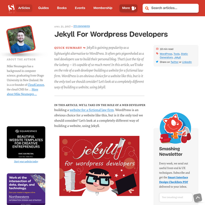 Jekyll For Wordpress Developers - Smashing Magazine