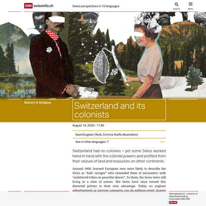 Switzerland and its colonists