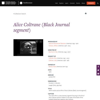Alice Coltrane (Black Journal segment)