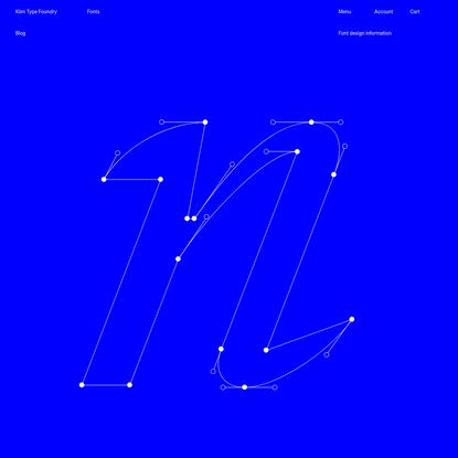Klim Type Foundry · Signifier design information