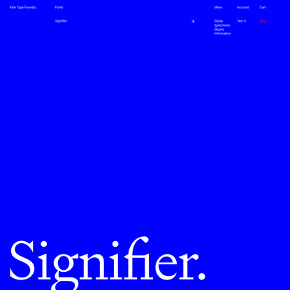 Klim Type Foundry · Signifier fonts