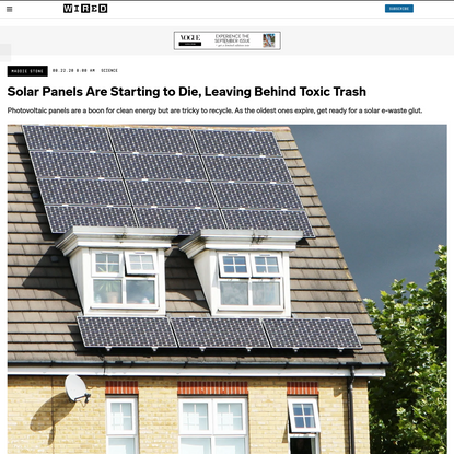 Solar Panels Are Starting to Die, Leaving Behind Toxic Trash   WIRED