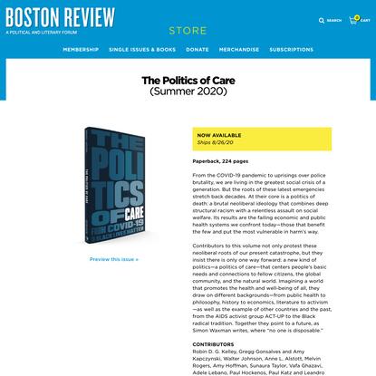 Boston Review | The Politics of Care | Boston Review