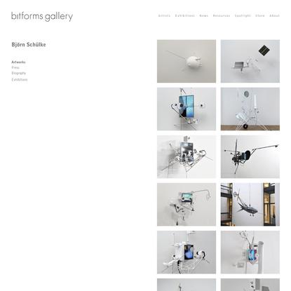Björn Schülke - bitforms gallery