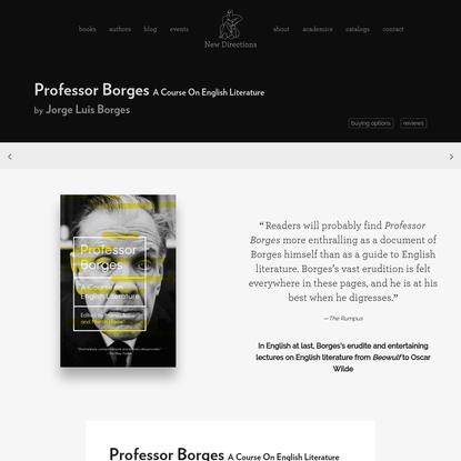 New Directions Publishing Company - Professor Borges