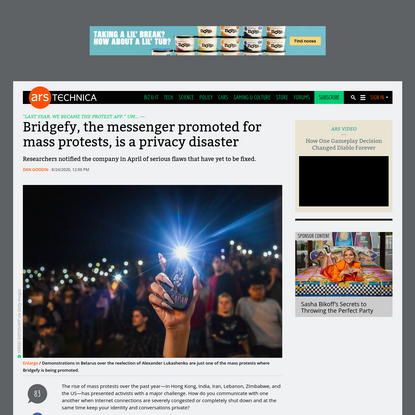 Bridgefy, the messenger promoted for mass protests, is a privacy disaster