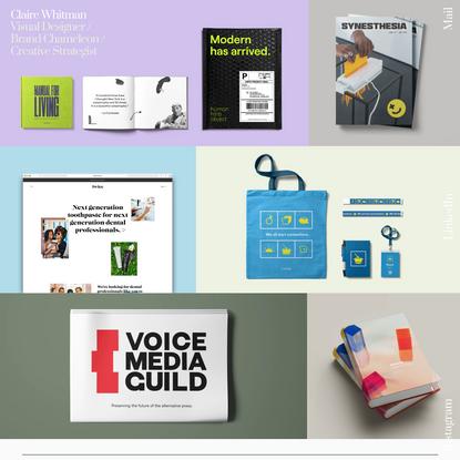 Design Portfolio - Claire Whitman
