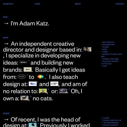 ADAM KATZ - CREATIVE DIRECTOR