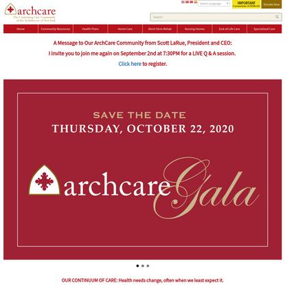 Elderly Care, Rehabilitation Centers, Senior Nursing, and Insurance Plans | ArchCare