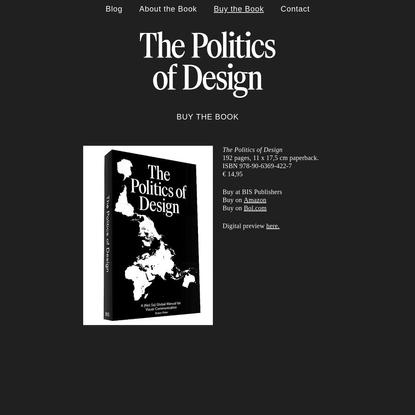 The Politics of Design — Buy the Book