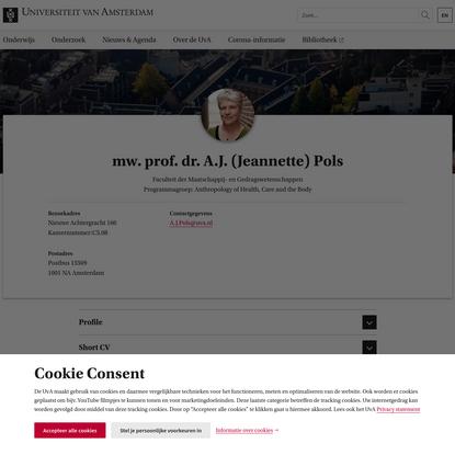 mw. prof. dr. A.J. (Jeannette) Pols