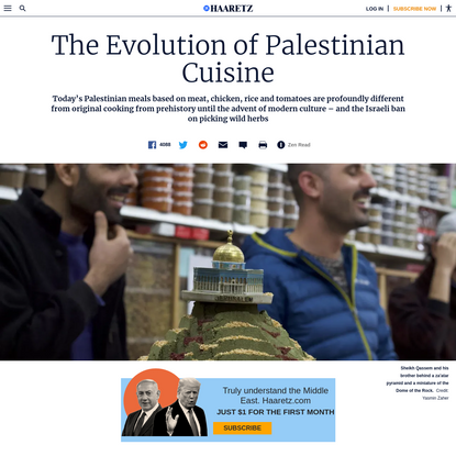 The evolution of Palestinian cuisine