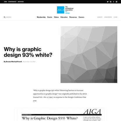 Why is graphic design 93% white?