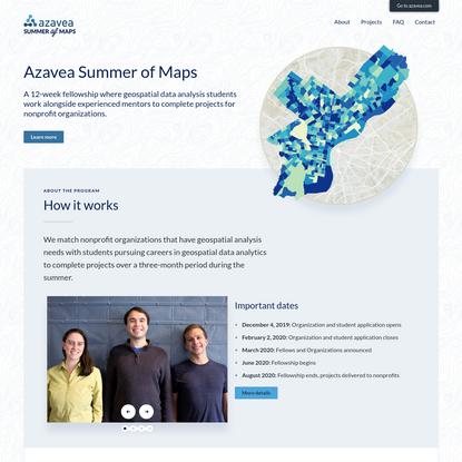 Azavea Summer of Maps