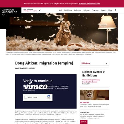 Doug Aitken: migration (empire) - Carnegie Museum of Art