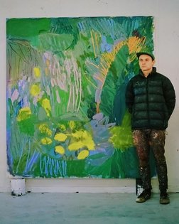 Next up is a young Australian painter. Gene may be young but he knows his way around a canvas and his paintings feel simply ...