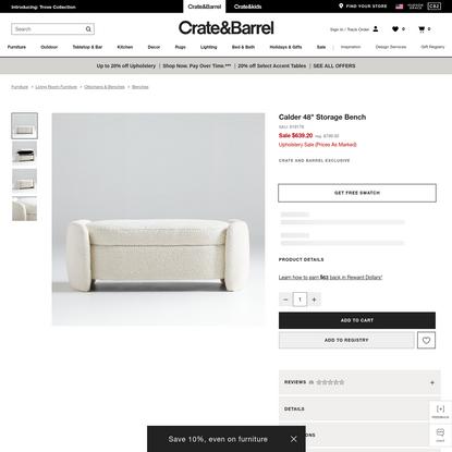 "Calder 48"" Storage Bench | Crate and Barrel"