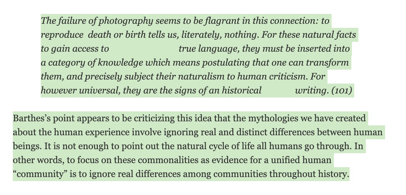 Roland Barthes on 'The Family of Man'