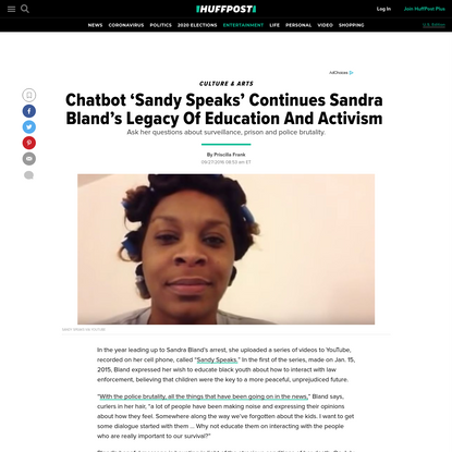 Chatbot 'Sandy Speaks' Continues Sandra Bland's Legacy Of Activism