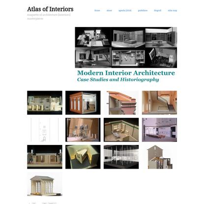 Atlas of Interiors – maquette of architecture [interiors] masterpieces