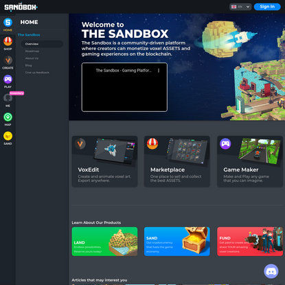 The Sandbox Game - User-generated Blockchain Metaverse