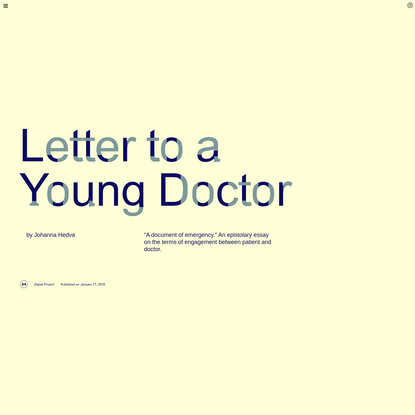 Triple Canopy - Letter to a Young Doctor by Johanna Hedva
