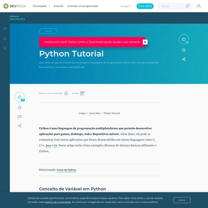 Python Tutorial: Uma introdução a linguagem de programação Python