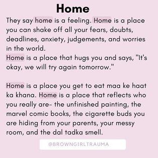 Home ✨💛 . . . . . . . . . #home #browngirltrauma #southasian #childrenofimmigrants #dysfunctionalfamily #adversechildhoodexp...