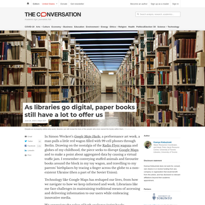 As libraries go digital, paper books still have a lot to offer us