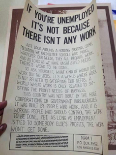 If you're unemployed, it's not because there isn't any work