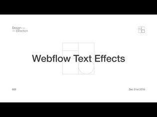 Webflow - 5 Custom Text Effects