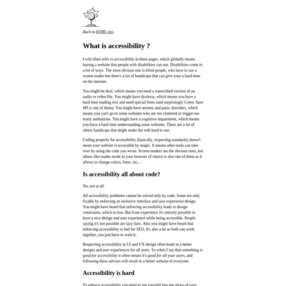 What is accessibility - Thomasorus