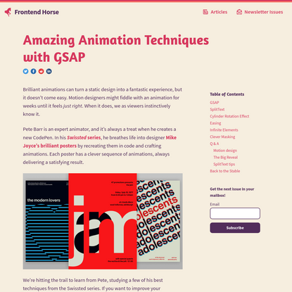 Frontend Horse - Amazing Animation Techniques with GSAP