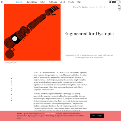 Engineered for Dystopia | David A. Banks