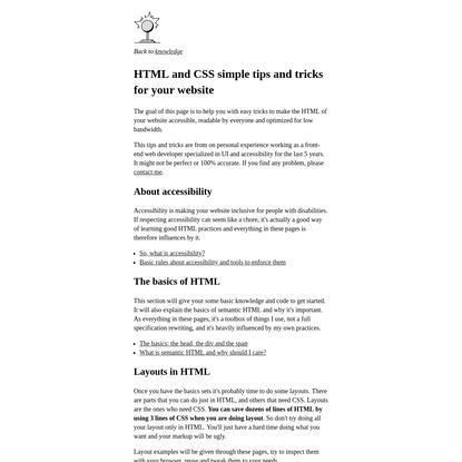 Html tips - Thomasorus