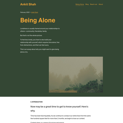 Being Alone - Ankit Shah