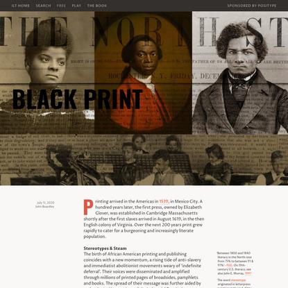 Black Print - I Love Typography