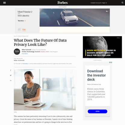 Council Post: What Does The Future Of Data Privacy Look Like?