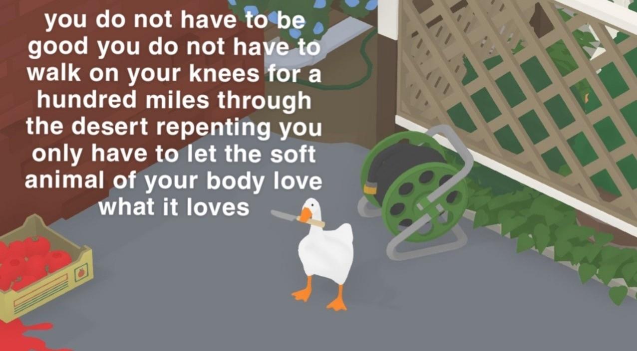 untitled goose poem - mary oliver