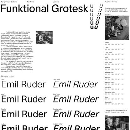 Funktional Grotesk - Typografische Systeme