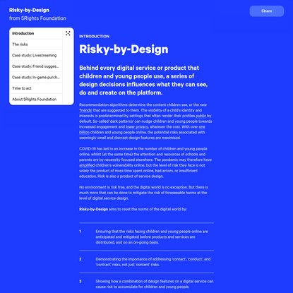Introduction to Risky-by-Design