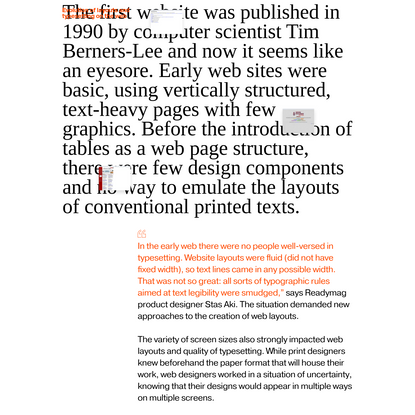 '9 tips on creating a readable web text' from 'Read Me: Magazine' by Readymag Templates