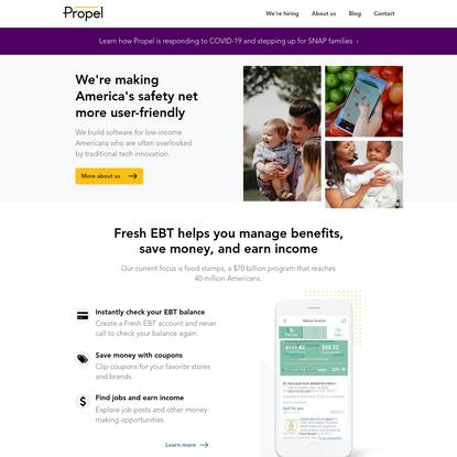 Propel | Improving America's safety net | United States