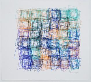 Vera Molnar, Structure de Quadrilatéres (Square Structures)