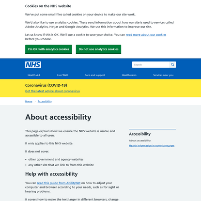 About accessibility